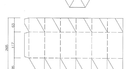 六角形箱(展開図)