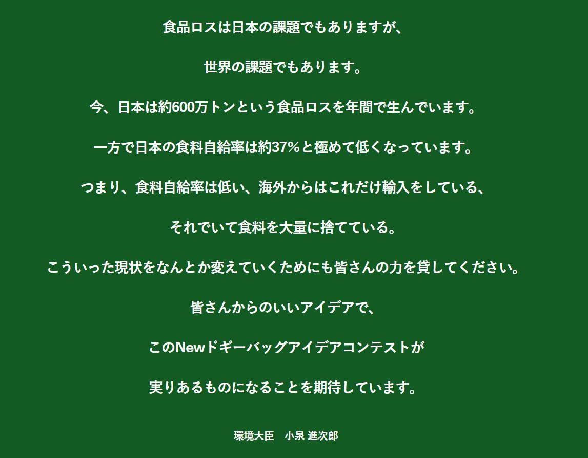 小泉環境大臣メッセージ