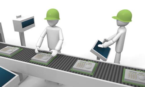 外装箱に使われる形状や紙の材質、あるいは製造工程について