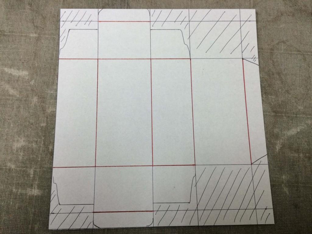 箱を作成する方法2 刃と罫の区分けをする